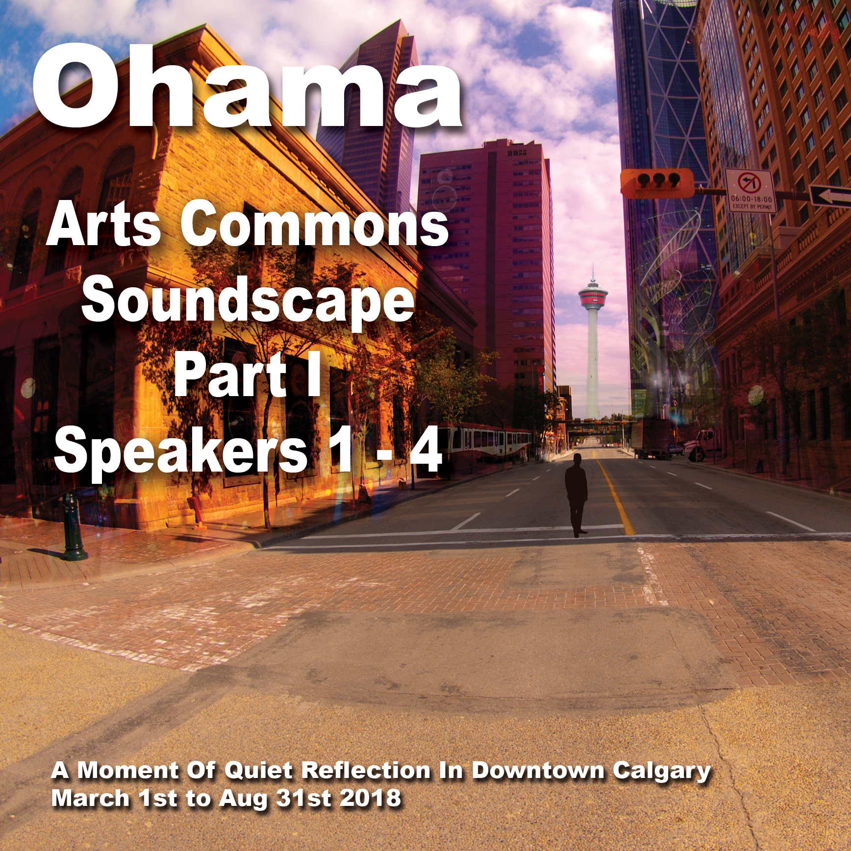 The flooded, deserted, downtown Calgary core, an Ohama album cover.
