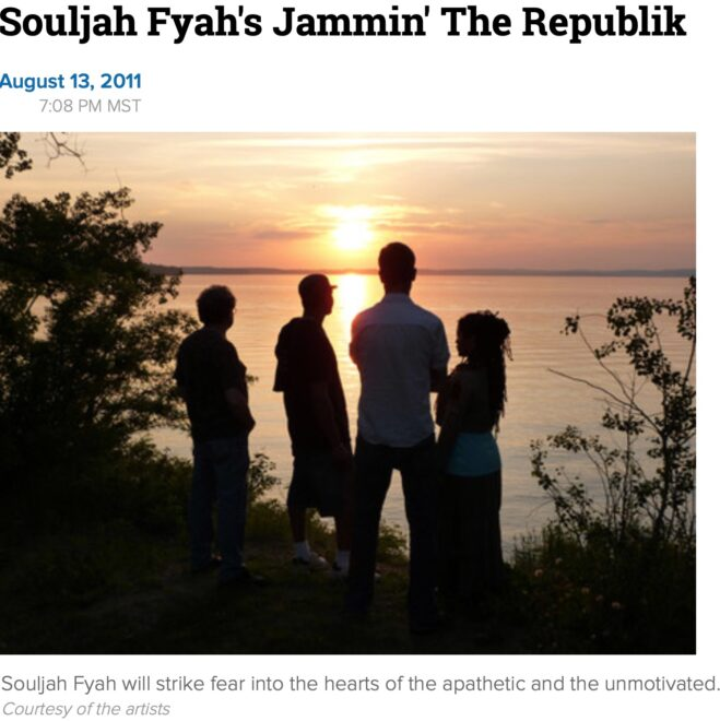 Souljah Fyah's Jammin' The Republik